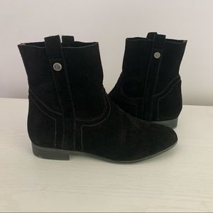 Frye Pull On Suede Boots Black Size 7.5 Shortie